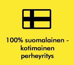 100% suomalainen - kotimainen perheyritys